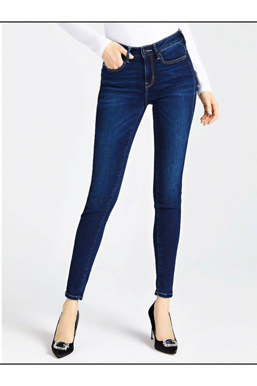 Guess high waist jeans dark denim