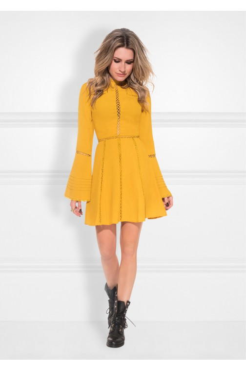 Nikkie Sonia dress in amber