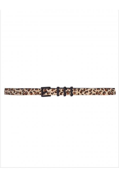 Voyar la Rue leopard belt in naturel