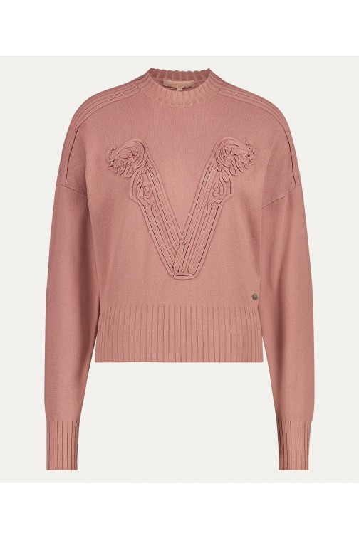 Josh V Sjarde jumper in dark blush