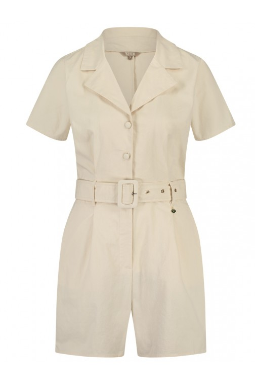 Its Given Loraine Playsuit in cream