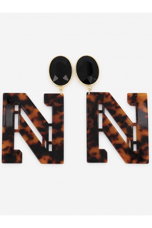 Nikkie Milon Tortoise earrings