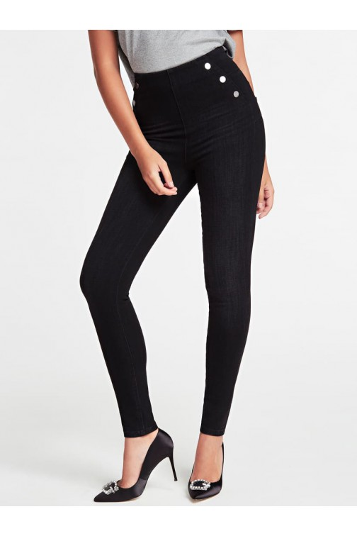 Guess Be brave super skinny jeans in zwart