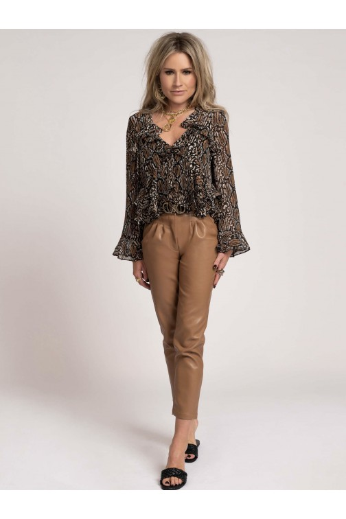 Nikkie Reilly blouse in animal print
