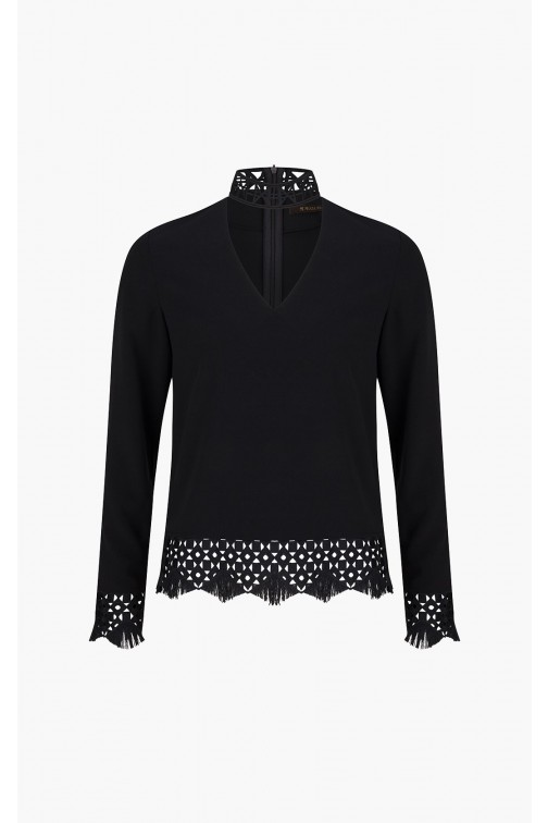 Supertrash Blace choker top in zwart