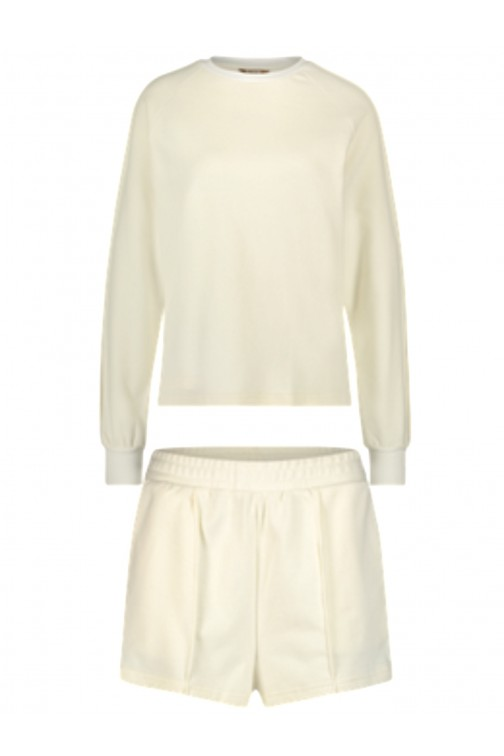 Its Given Rome/Milan lounge suit in offwhite