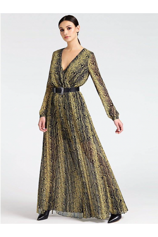 Guess Maya maxidress in snake - amber
