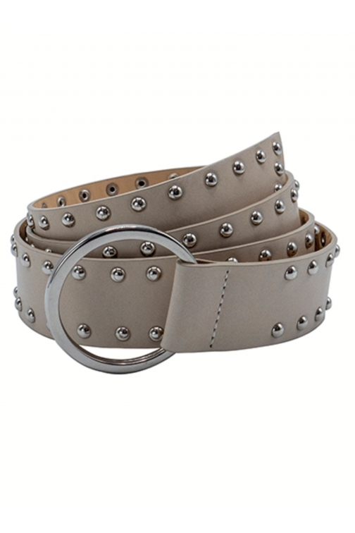 So Jamie knot it up belt in beige silver