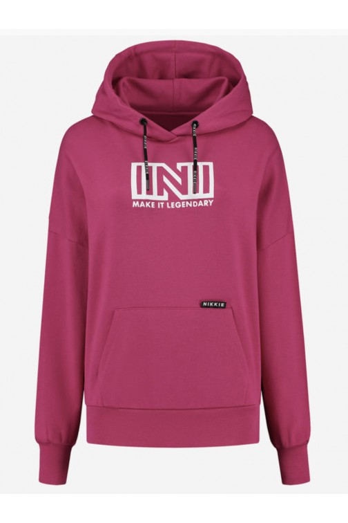Nikkie Make it legendary hoodie in pink