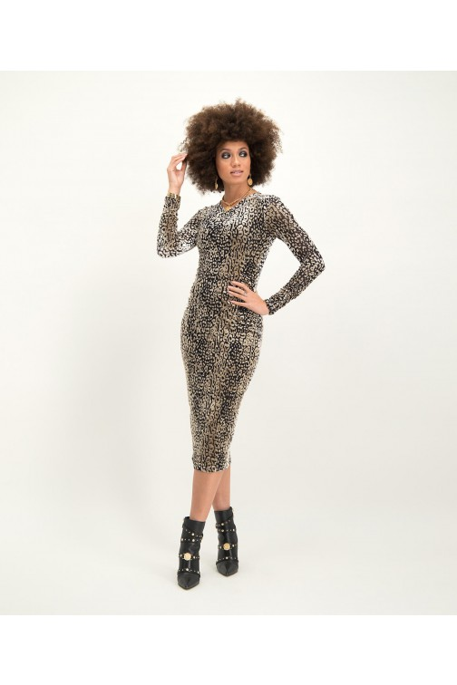 Josh V Renate dress in jaguar