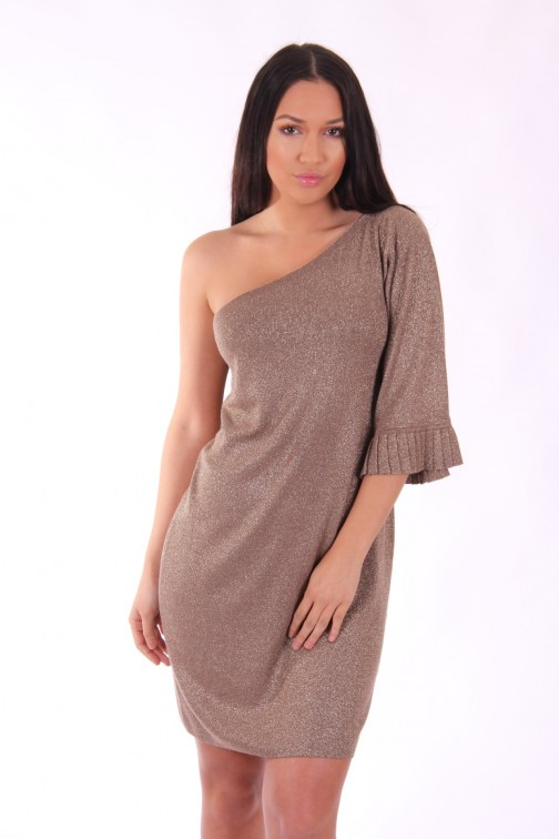 Liu Jo one shoulder dress in goud