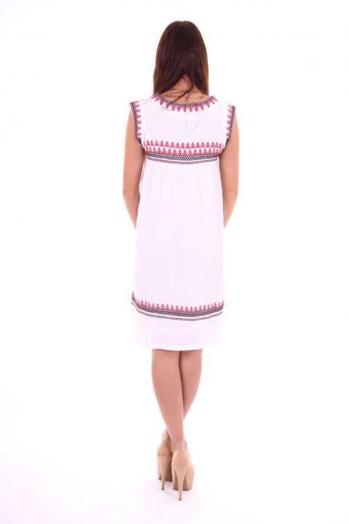 B.loved Boho dress with embroidery in white