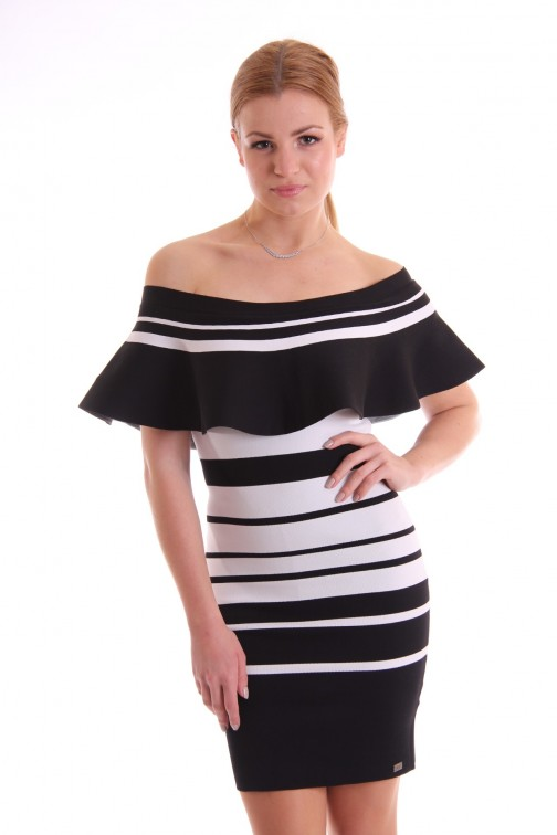 Josh V Jilly off-shoulder ruffle dress