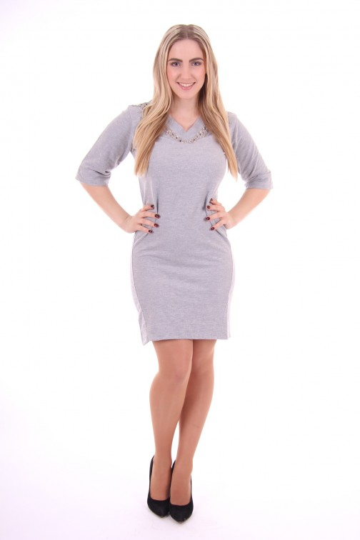 Silvian Heach sweaterdress Baruzzio in grey
