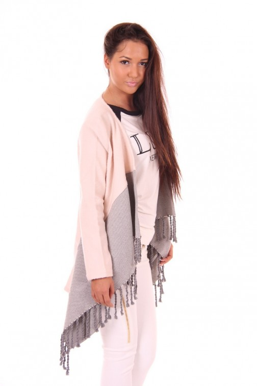 Jacky Luxury poncho jacket with fringes