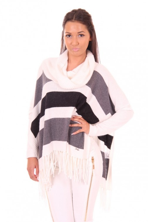 Jacky Luxury poncho with collar