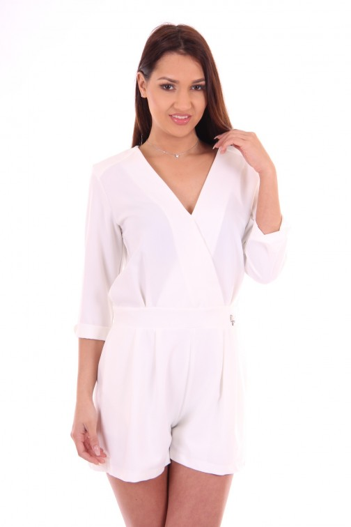 Relish playsuit Vikas in white