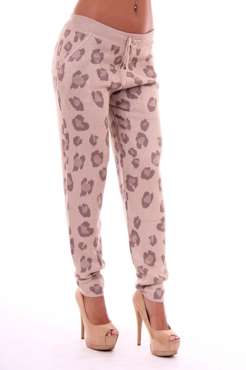 Leopard print LOST broek in cream