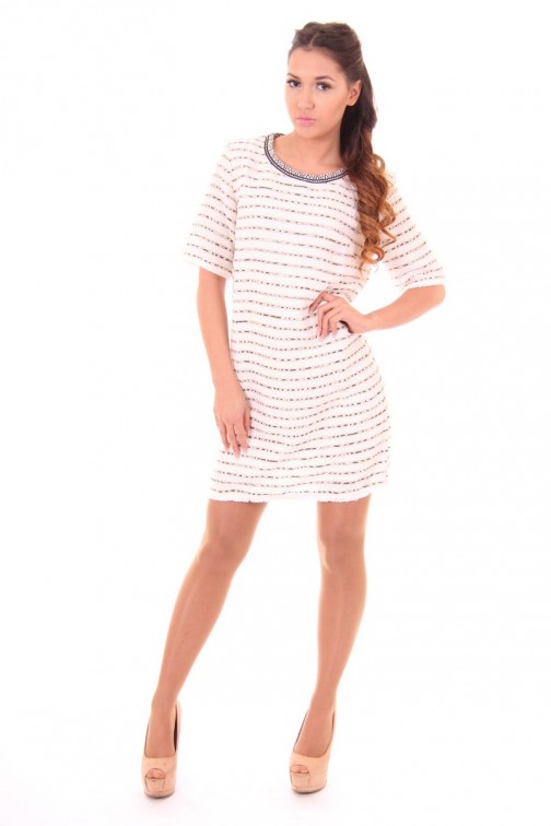 Suncoo Cyprus shift dress in bouclé