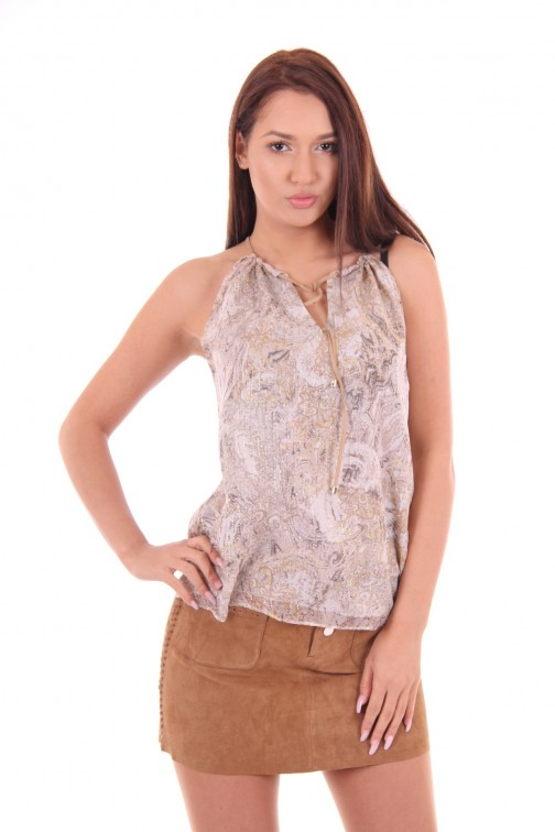 Kocca silk top Rules in natural shades