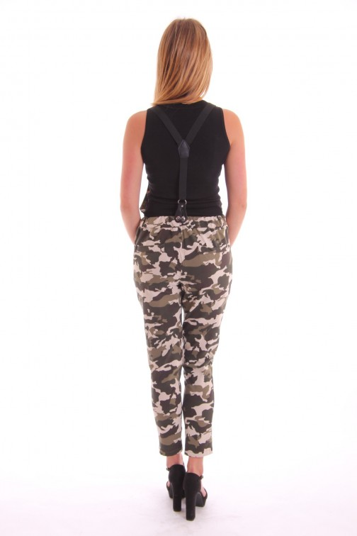 Overal in light army print