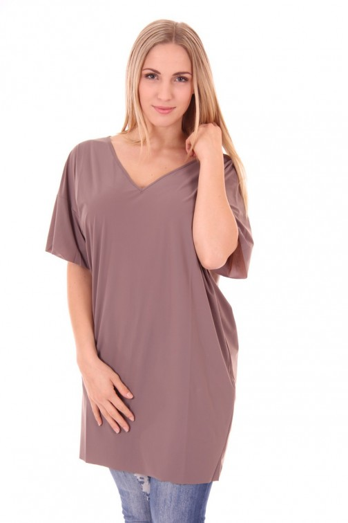 Mogene tunicdress in taupe