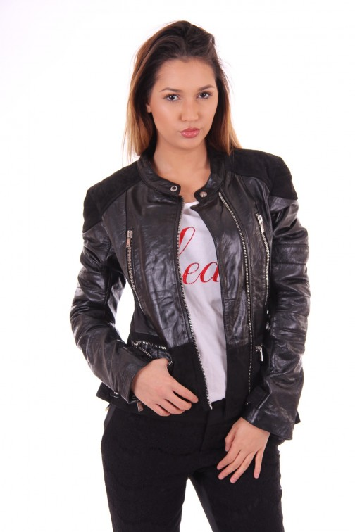 Nickelson jacket, Banu in leather en suéde