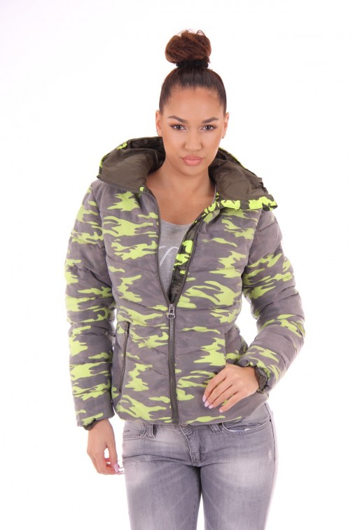 Nickelson Ono jacket in camo fluo yellow