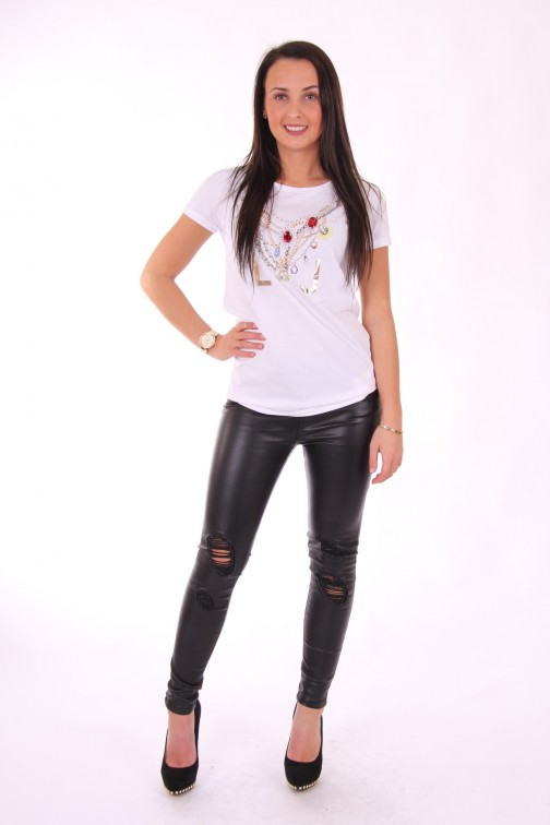 Liu Jo t-shirt Slow Rock Jewel met strass stenen