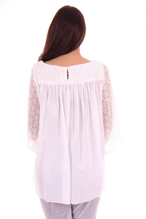 G.sel Tunic, Macrame with lace