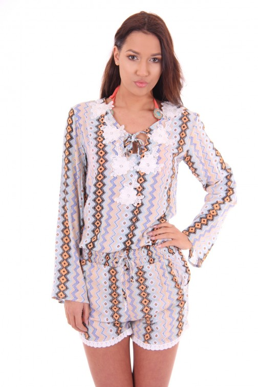 Labee-a-Porter top Moana in print