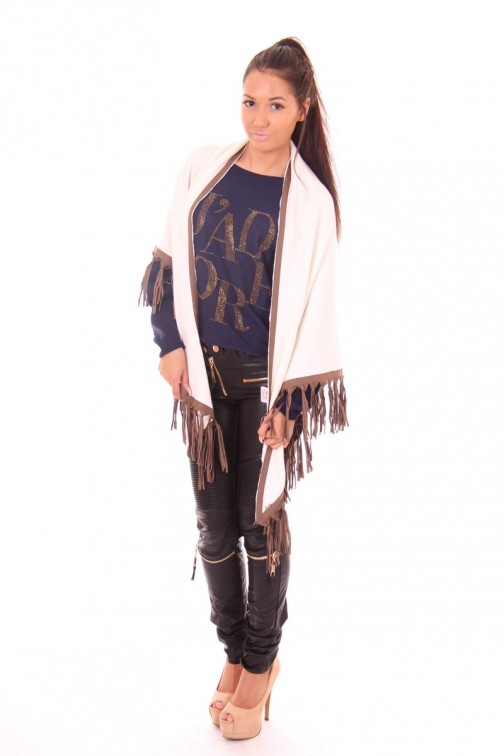 Jacky Luxury shawl with fringes