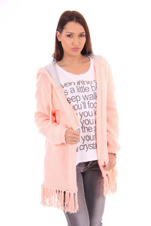 Goldbergh cardigan Anouck in fluo peach