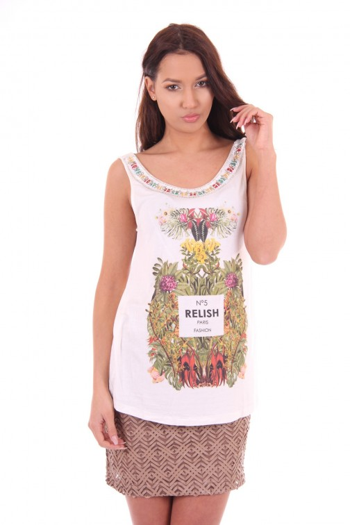 Relish top, Marlon with NO5 print