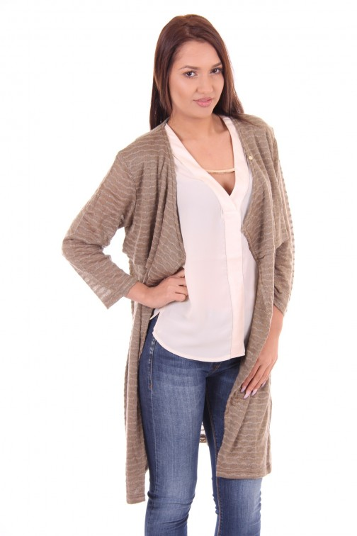 its Given cardigan Amber in taupe