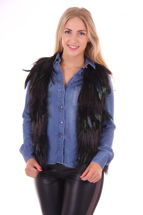 Ibana rouge feather jacket
