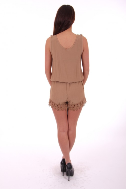 Playsuit met kant in hazel