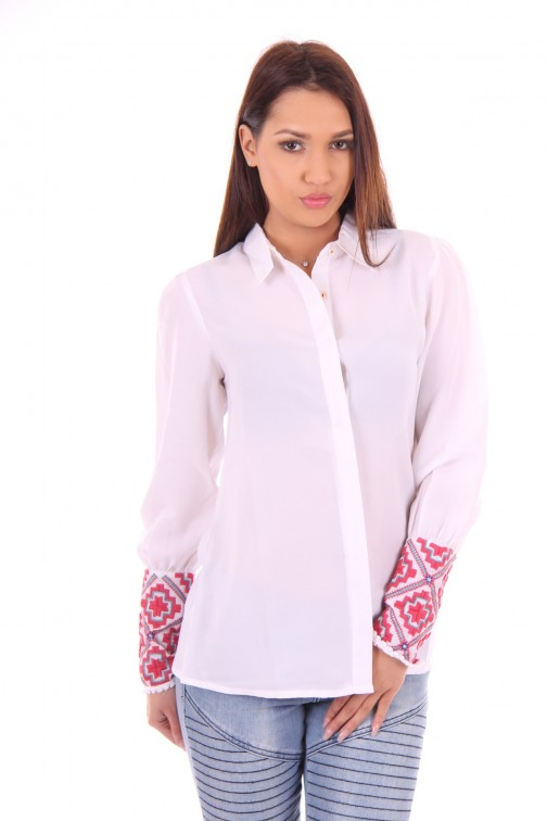 B.loved blouse with embroidered cuffs