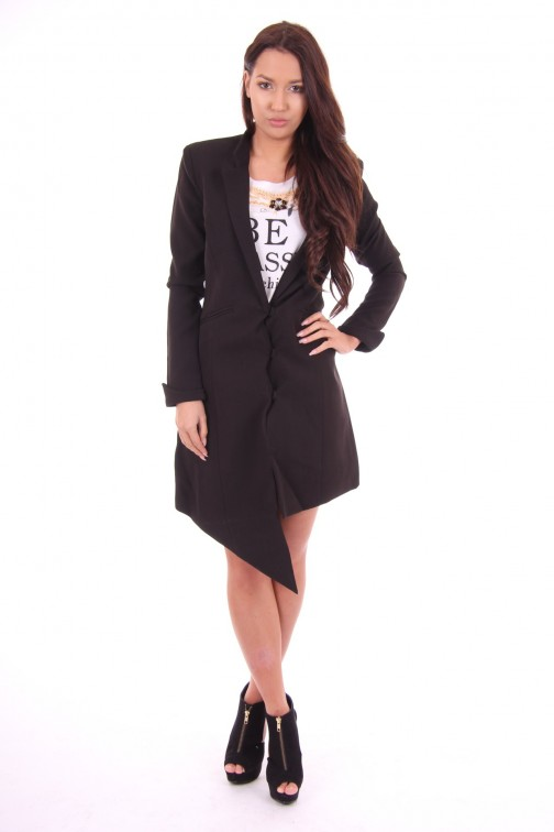 Tailor & Elbaz Long blazer, Bailey in black