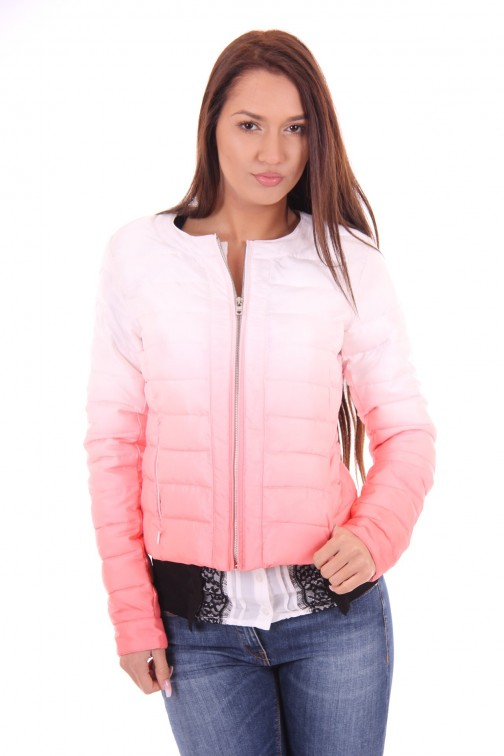 Fracomina quilted jacket in dip dye