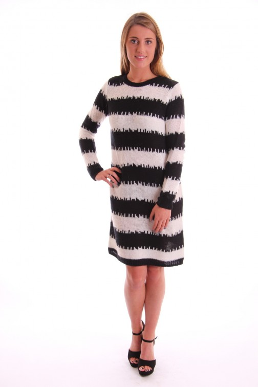 Labee dress Peggy knitted in black & white
