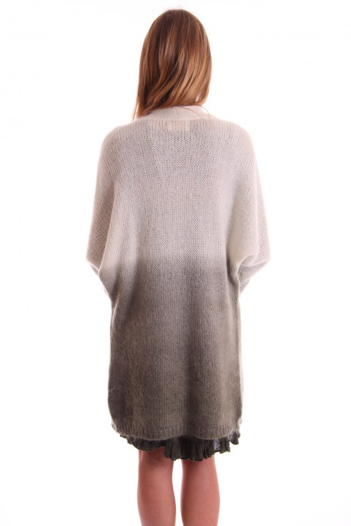 Labee Perry cardigan in cream en army - mohair.