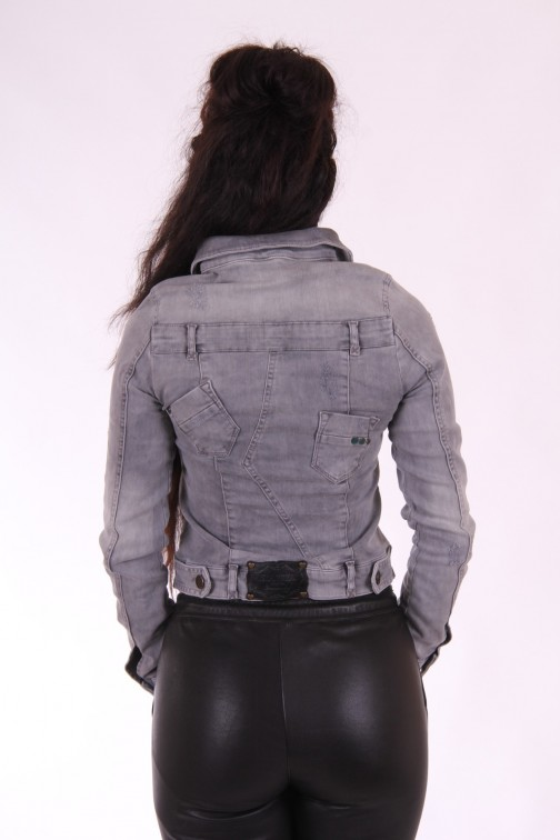 Isla Ibiza jeans jacket in grey