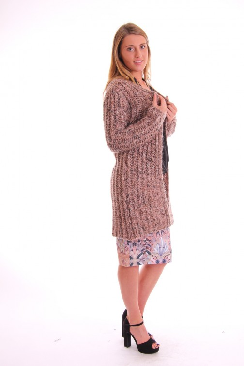 Labee Lima cardigan in pink-grey