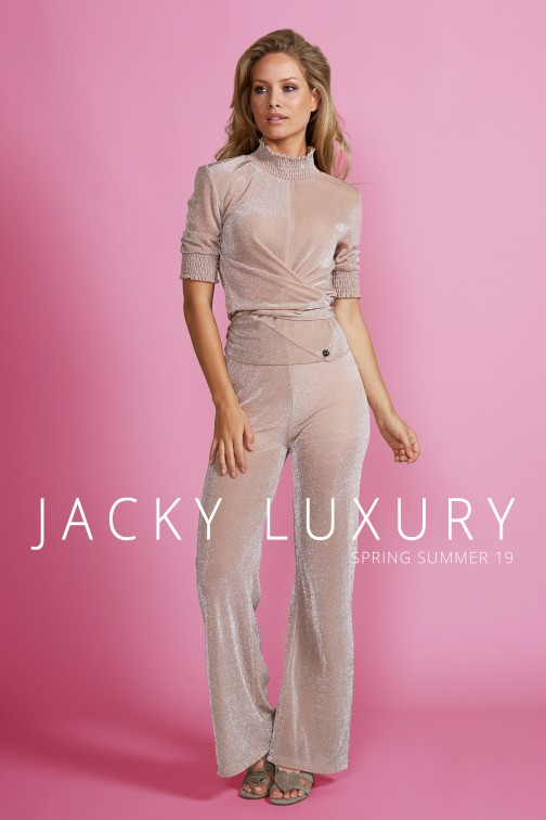 Jacky Luxury smock collar top - lurex