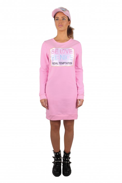 Royal Temptation Be Love sweaterdress in roze