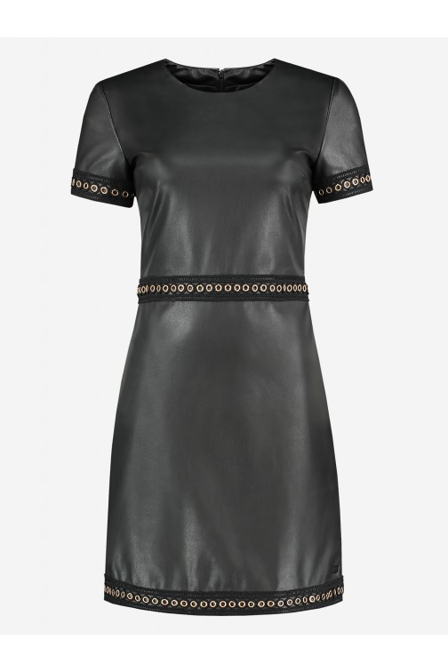 Nikkie Macha dress in zwart leer