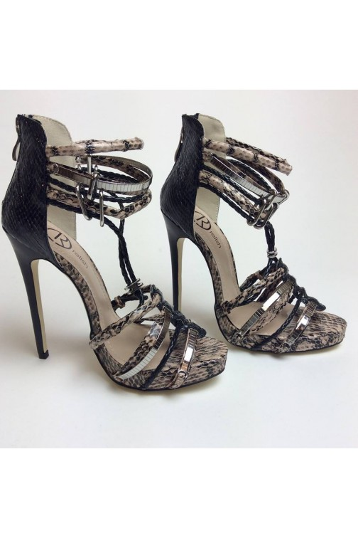 Relish Heels in snakeprint