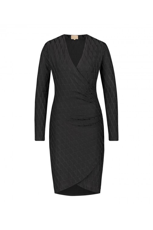 Josh V Rosyn dress in black - V logo