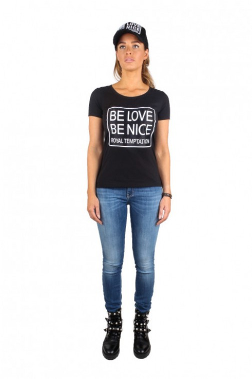 Royal Temptation Be Love t-shirt in zwart